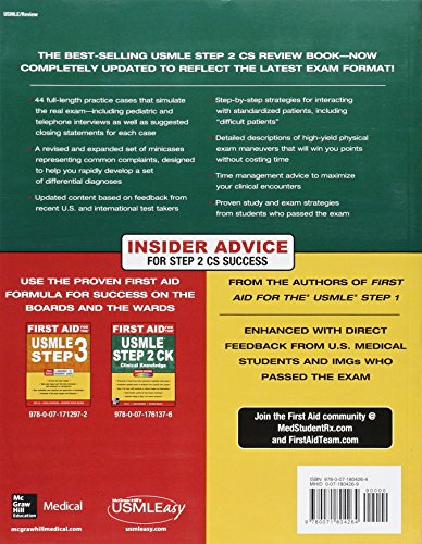 First Aid For The Usmle Step 2 Cs Pass Nplex Book Store